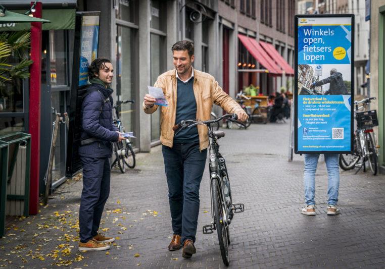 Winkels Open: Fietsers Lopen campagne