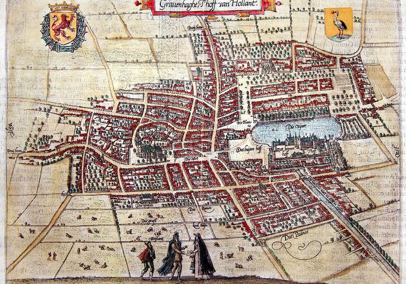oude plattegrond den haag